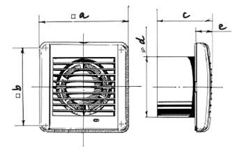 Габаритные размеры вентилятора Blouberg Aero