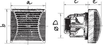 Габаритные размеры вентилятора Blouberg Brise