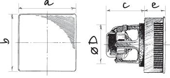 Габаритные размеры вентилятора Blouberg Eco