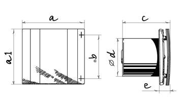 Габаритные размеры вентилятора Blouberg Quatro
